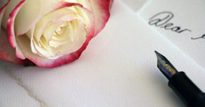 dear real estate pen and rose
